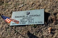 Charles N. Nichols (Adventurer Dustin Holmes) Tags: cemeteries cemetery grave graves veteran veterans gravemarkers gravemarker charlesnichols wwiveteran worldwariveteran newhomecemetery charlesnnichols