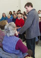 20140202__MG_4830_Yarn_To_Garment (Pat Kilkenny) Tags: ohio color wool fashion yarn fabric weaving weave oberlin garment 2014 oberlincollege 13thannual betsybruce yarntogarment