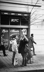 Kiev 4 + Jupiter-11 - At a Tram Stop (Kojotisko) Tags: brno cc creativecommons czechrepublic streetphoto kiev4 ilfordfp4plus jupiter11 vision:text=0549 vision:outdoor=0702