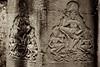 Carving of Khmehr Traditonal Dancing in Column at Bayon Temple (Patumraat) Tags: thailand temple dance ancient asia cambodia dancing traditional ruin empire siem thom civilization angkor wat invasion asean ayudhaya reab khmehr