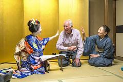 Drinking games at Tomikiku (InsideAsia Tours) Tags: japan kyoto maiko geisha