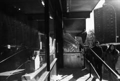when the sun hits (theglowingstars) Tags: street nyc newyorkcity blackandwhite film 35mm chinatown