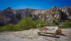 Turkish mountain couch (Jesse_Hunter) Tags: turkey couch mountain lounge landscape goreme desert cave cappadocia camp travel nomad