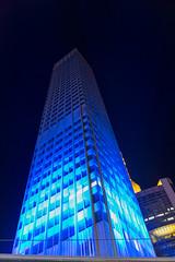 Frankfurt am Main - Luminale 2016, Eurotower (CocoChantre) Tags: deutschland europa eurotower frankfurtammain hessen hochhaus lichtinstallation luminale nachtaufnahme welt de