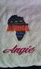 I love Africa (leonilde_bernardes) Tags: africa toalha presente love bordadopersonalizado logos emblemas enxovais bebes gift embroidery