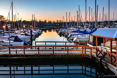 Oak Bay Marina Memories (Cameron Knowlton) Tags: oak bay nikon sunset marina reflection reflections canada dusk bc victoria d610 oakbaymarina oakbay sailboats boats sailboat dock docks boat