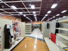 University Items... (Nicholas Eckhart) Tags: america us usa columbus ohio oh retail stores hilliard former closed empty closing gianteagle supermarket groceries interior