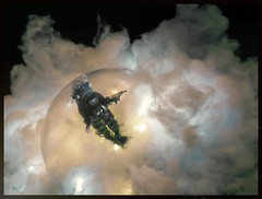 Robby In A Time Bubble (Michael Paul Smith) Tags: robby robot action figure scifi diorama
