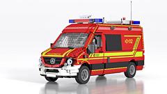 Mercedes-Benz Sprinter Command Vehicle - Einsatzleitwagen (Niklas-B) Tags: lego ldraw ldcad povray render firedepartment fire firebrigade emergency feuerwehr commandunit einsatzleitwagen elw mercedesbenz mercedes sprinter