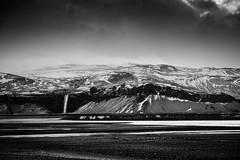 Storm over Eyjafjallajökull (Graeme Tozer) Tags: iceland waterfall river volcano seljalandsfoss mountains eyjafjallajökull moody contrast blackandwhite winter snow