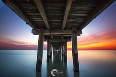 UNDER THE PIER (Vaughan Laws Photography | www.lawsphotography.com) Tags: longexposure landscape longshutterexposure longexposurecolour long longexposuresunset beach pier beautiful beacheslandscapes ocean seascape sky sea sunset timber oldjetty vaughanlaws vaughanlawsphotography lawsphotography australia melbourne melbournelongexposure neutraldensityfilter nd10stop ndfilter canon canon6d