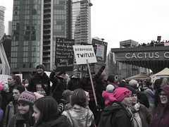 IMG_0225 (justine warrington) Tags: womens march womensmarch womensmarchonwashington washington pink pussy hats pinkpussyhat protest signs trump 45th presidential election january 21st 2017 potus resist resistance is fertile