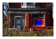 Pained Glass Windows (TooLoose-LeTrek) Tags: detroit urbandecay house home window collor porch