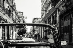 Havana tour - on the side streets (danielacon15) Tags: 2016 car cuba havanatour travel vintage old urban decay side mirror vehicle driving street streetphotography