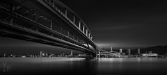 The Land of Connections Part Ⅲ: The City of Resurrection (YOSHIHIKO WADA) Tags: fineart longexposure blackandwhite japan koube bridge architecture