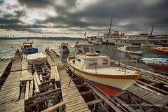 Boats 13 (`ARroWCoLT) Tags: seascape beykoz istanbul manzara kayıklar boat tekne deniz sea seaside clouds canon 700d t5i türkiye turkei ultrawide wharf woodenwharf hdr