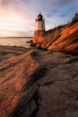 Castle Hill Lighthouse (Justin Smith - Photography) Tags: castlehill lighthouse rhodeisland ri newport newengland sunset ocean rocks nikond800 nikon1735mmf28 justinsmith wwwjustinsmithphotocom