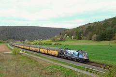 HectorRail 182 509, Harrbach (Sander Brands) Tags: siemens hectorrail trein train treni treno trenuri taurus züg güterzug harrbach maintal maindal mrce