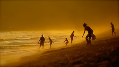 Golden Beach (Marie.L.Manzor) Tags: malibu california sea water beach silhouette nikon nikkor marielmanzor mist goldenlight 1000favs 1000favorites