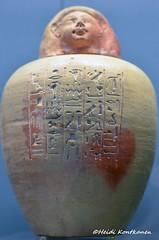 Canopic jar (konde) Tags: canopicjar ancientegypt 18thdynasty newkingdom ahmose pottery hieroglyphs