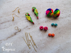 How to make boho earrings- 2 styles 1 (DIY Empress) Tags: diy earrings earringfashion boho bohemian bohoearrings fashion beautiful tutorial howto blogger inspiration make diyblogger girl girlboss happy parrot doll pompom smile colorful spark