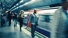 Underground.. (Philip R Jones) Tags: london underground culture speed motion motionblur londonunderground