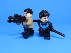 Grayson and Todd (MrKjito) Tags: lego minifig super hero nightwing red hood sidekicks grown up batman unmasked robin duo