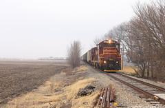 Grain time (GLC 392) Tags: rail chesapeake indiana railroad railway train ckin boxcar company box car ibcx la crosse fog emd sdm 815 811 grain tree dmir duluth missabe iron range