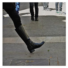 female determination (me*voilà) Tags: streetphotography girl boot walking energy diagonal