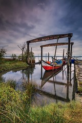 The Shelter dock, Ria de Aveiro (paulosilva3) Tags: the shelter dock ria de aveiro portugal canon eos 6d manfrotto lowepro lee filters landscape waterscape water lake sunrise boats longexpos