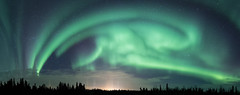 Aurora and pillars (frostnip907) Tags: auroraborealis northernlights aurora auroras alaska lightpillars panorama winter night nightsky