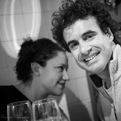 F0805 ~ The laughter almost burst out... :) (Teresa Teixeira) Tags: lisboa bela belasrestaurante fados joana pedro dinner teresateixeira
