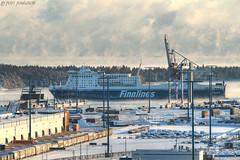 Finnmaid @ Port of vuosaari (___pete___) Tags: port vuosaari finnlines finnmaid helsinki winter sea harbor container ship baltic germany steam