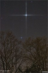 Jupiter and Spica - April 26, 2017 (Tom Wildoner) Tags: tomwildoner leisurelyscientistcom leisurelyscientist jupiter spica planet star april spring 2017 weatherly pennsylvania carboncounty trees silhouette nightsky night canon canon6d tiffen starfilter tripod outerspace astronomy astrophotography astronomer space sky