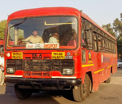 Shegaon - Nagpur (yogeshyp) Tags: msrtc msrtcparivartanbus maharashtrastatetransport shegaonnagpurstbus nagpurcbs1depotbus