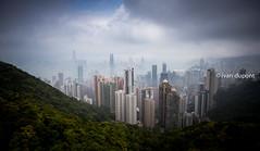 View from the Peak Tower, Victoria Peak, Hong Kong Island, SAR of China (monsieur I) Tags: asia abroad asian clouds cloudy density faraway hongkong hongkongbay hongkongisland huge monsieuri nature natureintown panorama peaktower skyscrapers travel traveler victoriapeak world
