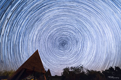 Star Trails (jothish_gr) Tags: stars star startrail startrails circle blue white camping hut trees sky clouds milkyway night nightphotogrpahy nightscape black astro astrophotography park quanah texas travel beautiful copperbreaks nikon rokinon d750 wideangle longexposure