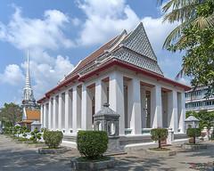 Wat Nangnong Phra Ubosot and Phra Chedi (DTHB1846) วัดนางนอง พระอุโบสถ และ พระเจดีย์