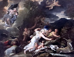 IMG_8473A Luca Giordano. 1634-1705. Naples.  La Chasse de Diane. The Hunting of Diana. vers 1685.  Louvre. (jean louis mazieres) Tags: peintres peintures painting musée museum museo france paris louvre lucagiordano