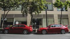 Red Rivals (Justin Young Photography) Tags: cars manila philippines mitsubishi lancerevolution evox cz4a subaru impreza wrxsti gv