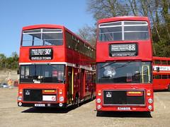 London Transport V1 and V3 - A101SUU and A103SUU (RL Buses) Tags: bus busrally preservedbus cobham londonbusmuseum brooklands london londontransport volvo ailsa
