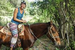Puerto Escondito Horse rise in mountains