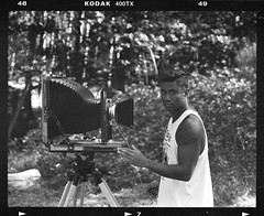Lenny & Camera (aloha_bigmike) Tags: film 120mm camping pentax67