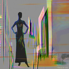 Inside and Out (Lemon~art) Tags: mannequin doors stylised photomanipulation texture layers building