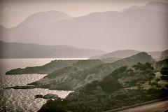 Early in the morning (Arianeta LIB) Tags: crete sea lasithi rocks coastal fog greece