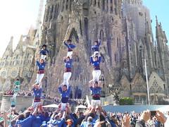 Diada Inici XVè Aniversari Sagrada Família (Cargolins) Tags: castells castellers esplugues sagradafamília cargolins bandarres 2017 cweb