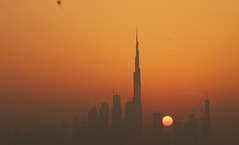 The Burj Khalifa (ritikatiwari23) Tags: burj khalifa dubai skyline tallest building sunset sky