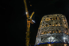 completed outline (pbo31) Tags: sanfrancisco california night dark black color city march 2017 spring boury pbo31 nikon d810 salesforce tower construction crane rinconhill yellow crown top gold steel detail financialdistrictsouth