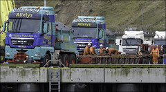 97 - It's All In The Preparation (North Light) Tags: truck haulage heavyhaulage alleys harbour scrabsterharbour caithness scotland