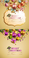 Christmas background (葉育婷) Tags: 2012 background ball bauble beautiful bell berry bow bronze candy cane card celebration christmas congratulation decoration frame garland gift glow glowing gold golden happy headline holidays holy illustration light merry new party place plate postcard present red retro ribbon shimmering shining snow snowflake star text vector vintage winter xmas year